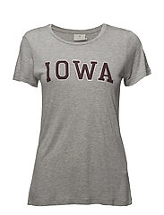 Iowa T-shirt- MIN 16 pcs. - GREY MELANGE