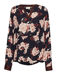 Fay Floral Blouse - MIDNIGHT MARINE
