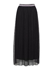 Dalina Mesh Skirt - BLACK DEEP