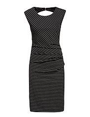 Gil India Dress - BLACK DEEP / SILVER