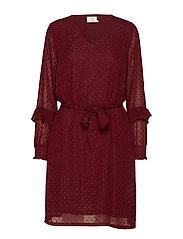 Dalisa Dress - DEEP WINE