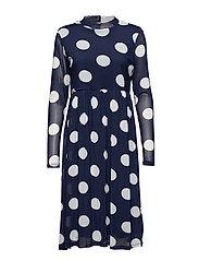 Bobbie dot dress - MIDNIGHT MARINE / CHALK