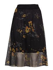 KArola Mesh Skirt - BLACK DEEP