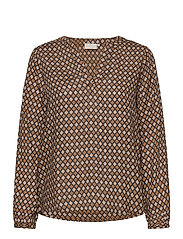 KAsary Tilly Blouse - NOMAD DIAMOND PRINT