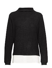KAbelina Highneck Pullover Min 8 pc - BLACK DEEP / 50003