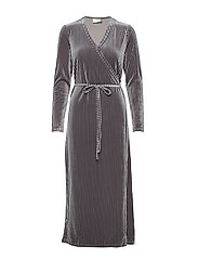 KAviola Wrap Dress - SILVER GREY
