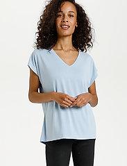 Kaffe - KAlise SS T-shirt - t-shirts - chambray blue - 0