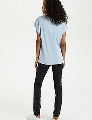 Kaffe - KAlise SS T-shirt - t-shirts - chambray blue - 4