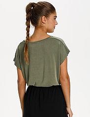 Kaffe - KAlise SS T-shirt - t-shirts - grape leaf - 4