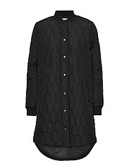KAshally Quilted Coat - BLACK DEEP