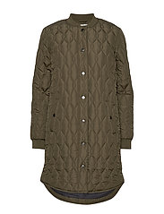 KAshally Quilted Coat - GRAPE LEAF
