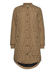 KAshally Quilted Coat - TANNIN