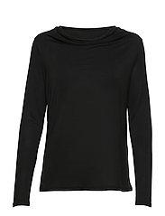 KAclara Jersey Blouse - BLACK DEEP