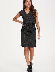 Kaffe - KAuta India Dress - hverdagskjoler - black -chalk diamond lines - 3