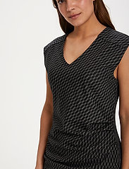 Kaffe - KAuta India Dress - hverdagskjoler - black -chalk diamond lines - 5
