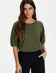 Kaffe - KAdana Linda Blouse - t-shirts - grape leaf - 0