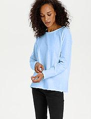 Kaffe - KAvitta LS T-shirt - langærmede toppe - chambray blue - 0