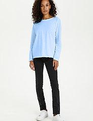 Kaffe - KAvitta LS T-shirt - langærmede toppe - chambray blue - 3