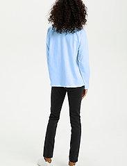 Kaffe - KAvitta LS T-shirt - langærmede toppe - chambray blue - 4