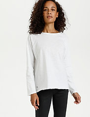 Kaffe - KAvitta LS T-shirt - langærmede toppe - optical white - 0