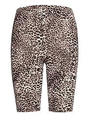 KAanni Jersey Shorts - CLASSIC SAND / BLACK LEOPARD