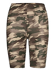 KAanni Jersey Shorts - GREEN / BROWN ARMY