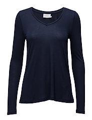 Anna T-shirt L/S- MIN 2 - MIDNIGHT MARINE