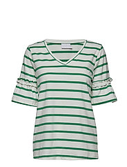 Lina T-shirt - CHALK / 52808 JELLY BEAN GREEN