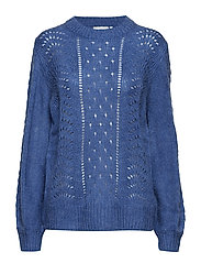 Wenche O-Neck Pullover - FEDERAL BLUE