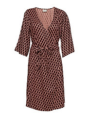 KAsally Wrap Dress - ROSE TAN
