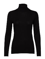 Astrid Roll Neck - BLACK DEEP