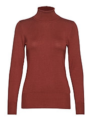 Astrid Roll Neck - CHERRY MAHOGANY