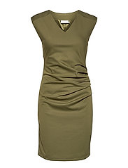 India V-Neck Dress - CAPULET OLIVE
