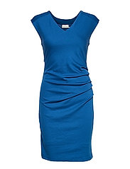 India V-Neck Dress - CLASSIC BLUE