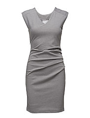 India V-Neck Dress - GREY MELANGE