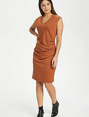 Kaffe - India V-Neck Dress - hverdagskjoler - sierra - 3