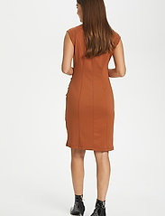 Kaffe - India V-Neck Dress - hverdagskjoler - sierra - 4