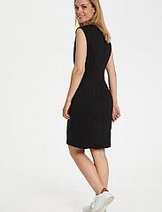 Kaffe - India Round-Neck Dress - midi kjoler - black deep - 3