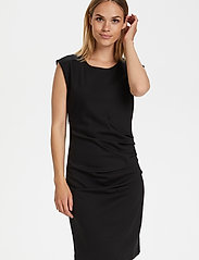 Kaffe - India Round-Neck Dress - midi kjoler - black deep - 4