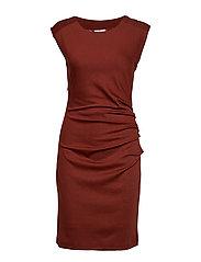 India Round-Neck Dress - CHERRY MAHOGANY