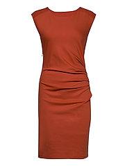 India Round-Neck Dress - CHILI
