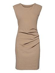India Round-Neck Dress - CLASSIC SAND
