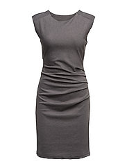 India Round-Neck Dress - DARK GREY MELANGE
