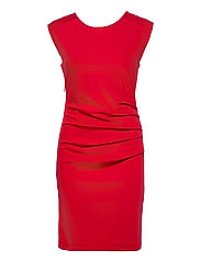 India Round-Neck Dress - HAUTE RED