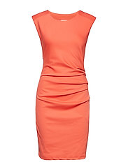 India Round-Neck Dress - LIVING CORAL