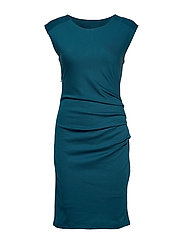 India Round-Neck Dress - MOROCCAN BLUE