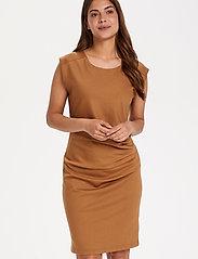 Kaffe - India Round-Neck Dress - midi kjoler - thrush - 0