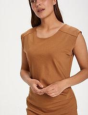 Kaffe - India Round-Neck Dress - midi kjoler - thrush - 5