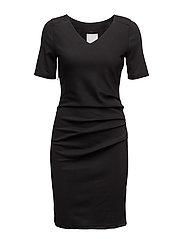 India V-neck ½ sleeve - BLACK DEEP