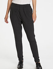 Kaffe - Jillian Pants - bukser med smalle ben - dark grey melange - 0
